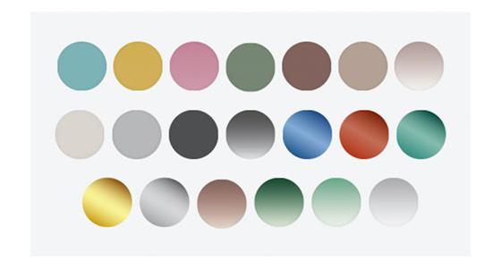 Färger solglas