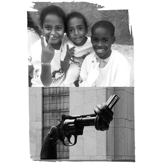 Den knutna revolvern - Non Violence Collections i samarbete med Smarteyes
