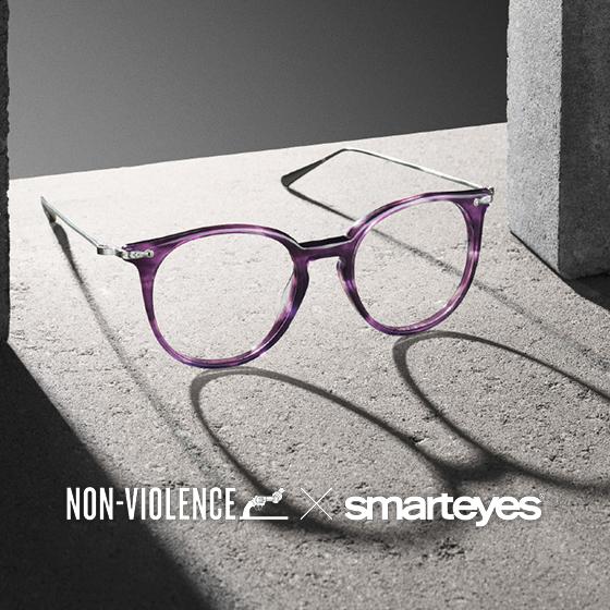 Non-Violence Collection - glasögon designade av Smarteyes i samarbete med Non-Violence Foundation