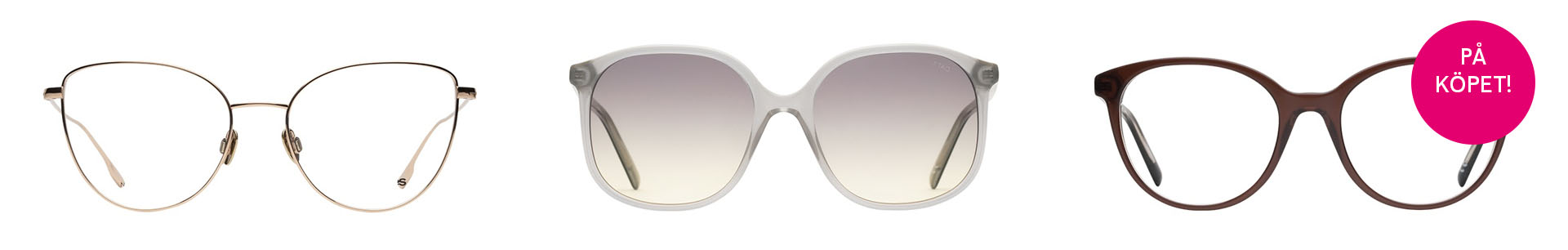 3 for 2 vid prenumeration på glasögon hos Smarteyes