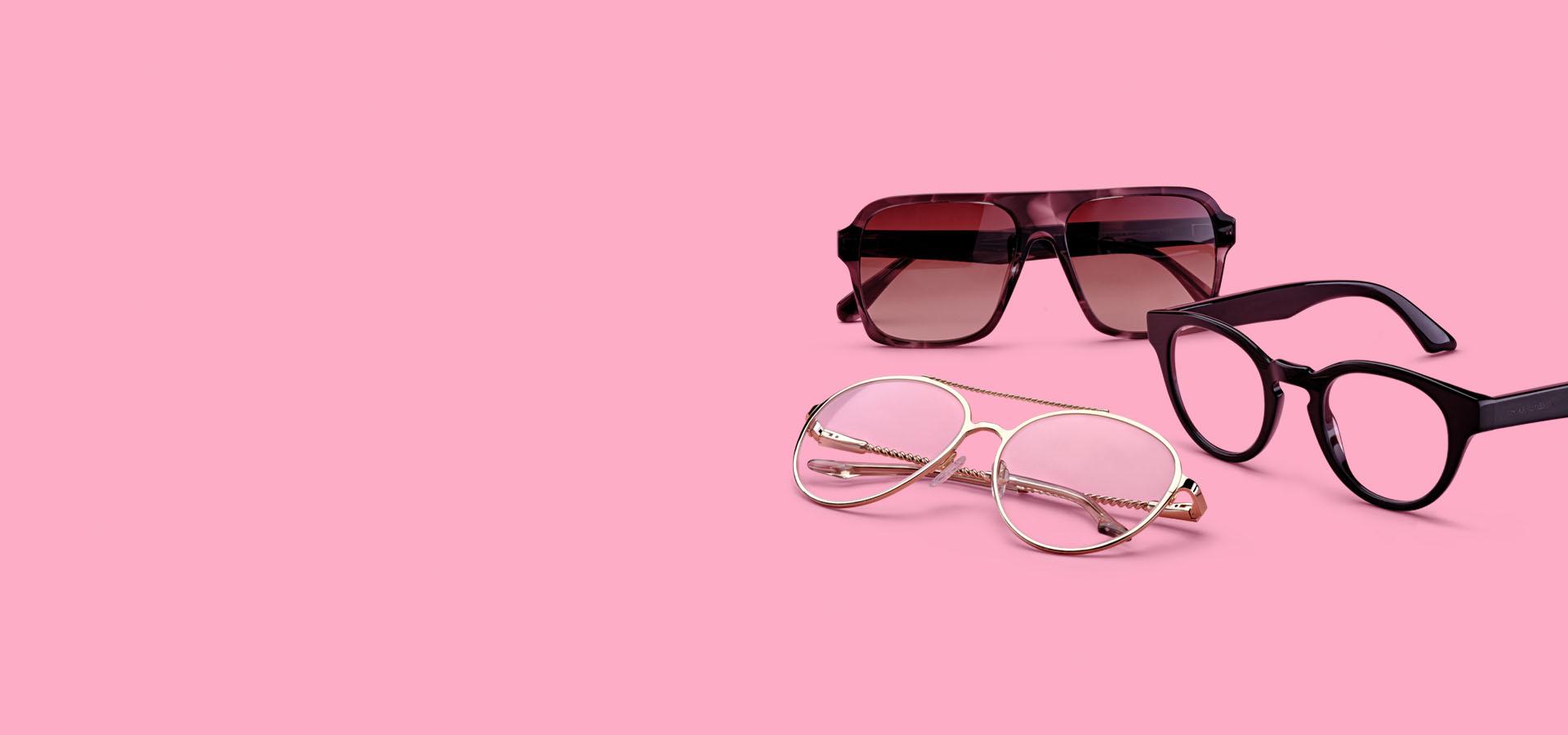 Solglasögon i din styrka på köpet när du prenumererar på minst 2 par glasögon