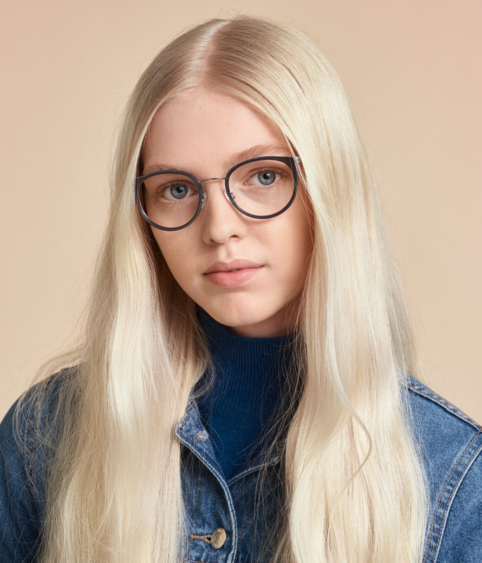 Enkelslipade glasögon