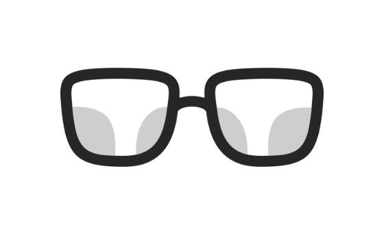 Glas för slipade solglasögon