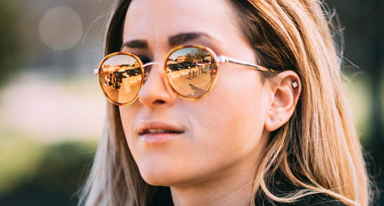 Välj spegelglas på dina solglasögon